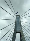 Cables de la ayuda del puente foto de archivo libre de regalías