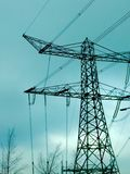 Cables de la electricidad Imagen de archivo libre de regalías