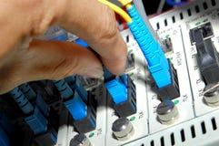 Cables de la fibra Foto de archivo libre de regalías