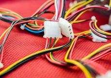 Cables de la PC Imagen de archivo libre de regalías