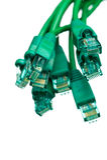 Cables de la red - ascendente cercano de la vertical Imagen de archivo