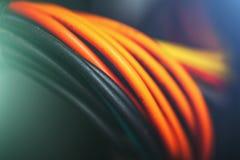 Cables de la red, concepto del equipo de gestión de datos en red de Internet imagenes de archivo