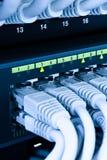 Cables de la red de ordenadores Fotos de archivo