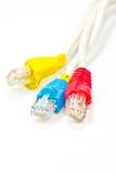 Cables de la red de ordenadores  Fotografía de archivo
