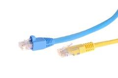 Cables de la red de ordenadores Foto de archivo libre de regalías