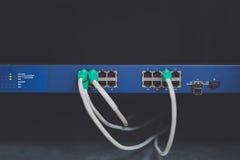 Cables de la red de ordenadores Imagenes de archivo
