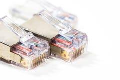 Cables de la red de ordenadores aislados Foto de archivo libre de regalías