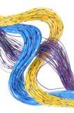 Cables de la red de telecomunicaciones Fotos de archivo libres de regalías