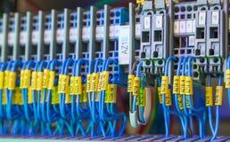 Cables de la red del superordenador Fotos de archivo libres de regalías