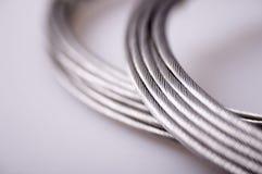 Cables de plata Imagen de archivo