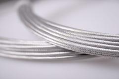 Cables de plata Foto de archivo libre de regalías