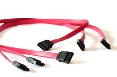 Cables de Serial ATA Foto de archivo libre de regalías