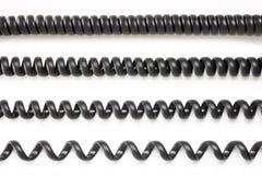 Cables de teléfono Fotografía de archivo libre de regalías