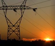 Cables de transmisión Imagen de archivo