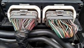 Cables de transmisión del motor fotografía de archivo