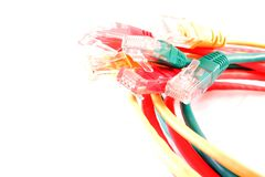 Cables de UTP imágenes de archivo libres de regalías