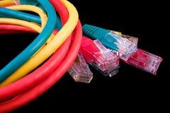 Cables de UTP fotografía de archivo