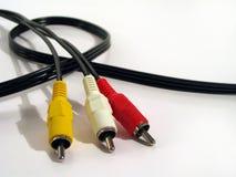 Cables de A/v Fotos de archivo