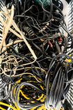 Cables del equipo eléctrico Fotos de archivo libres de regalías