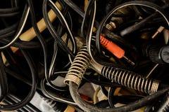 Cables del equipo eléctrico Fotografía de archivo