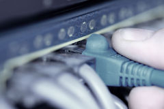 Cables del Internet Imagen de archivo