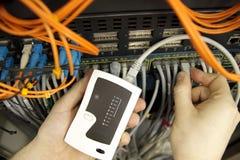 Cables del Internet Fotos de archivo