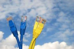Cables del Internet Fotografía de archivo
