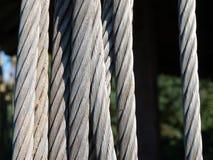Cables del metal Fotos de archivo libres de regalías