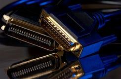 Cables del ordenador Fotografía de archivo libre de regalías
