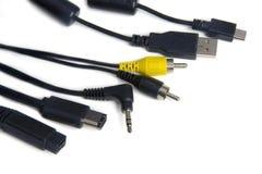 Cables del ordenador Imagen de archivo libre de regalías