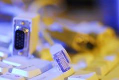 Cables del ordenador Foto de archivo libre de regalías