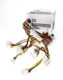 Cables del ordenador con los zócalos Foto de archivo libre de regalías