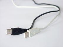 Cables del USB Imagen de archivo libre de regalías