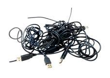 Cables del Usb Fotografía de archivo