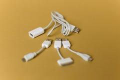 Cables del USB Fotos de archivo