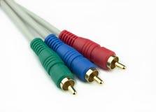 Cables del vídeo del RGB imagen de archivo libre de regalías
