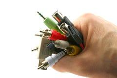 Cables a disposición foto de archivo libre de regalías