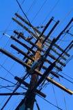 Cables eléctricos imágenes de archivo libres de regalías