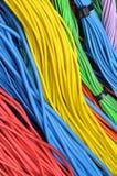 Cables eléctricos coloreados Foto de archivo libre de regalías