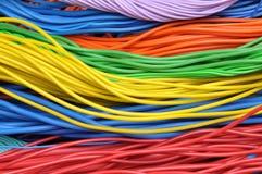 Cables eléctricos coloreados Imagen de archivo