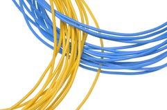 Cables eléctricos del manojo Foto de archivo libre de regalías