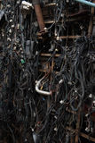 Cables eléctricos viejos Foto de archivo