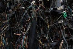 Cables eléctricos viejos Fotografía de archivo libre de regalías