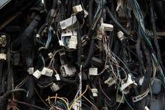 Cables eléctricos viejos Fotografía de archivo