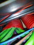 Cables eléctricos y de la red fotografía de archivo libre de regalías