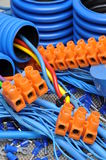 Cables and electrical component Royalty Free Stock Photos