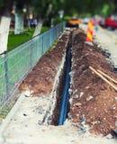 Cables en foso Foto de archivo libre de regalías