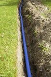Cables en un foso Foto de archivo libre de regalías
