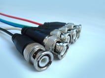 Cables especiales de la pantalla de ordenador fotografía de archivo libre de regalías