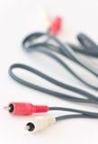 Cables estéreos de la conexión Imagen de archivo libre de regalías